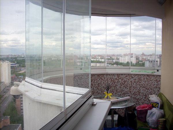 Остекление полукруглых балконов и лоджий в дубровка и област.